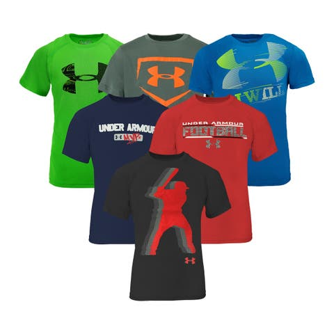 3fa9338bf19 Under Armour Boy s T-Shirt 5-Pack Holiday Gift Set - Assorted