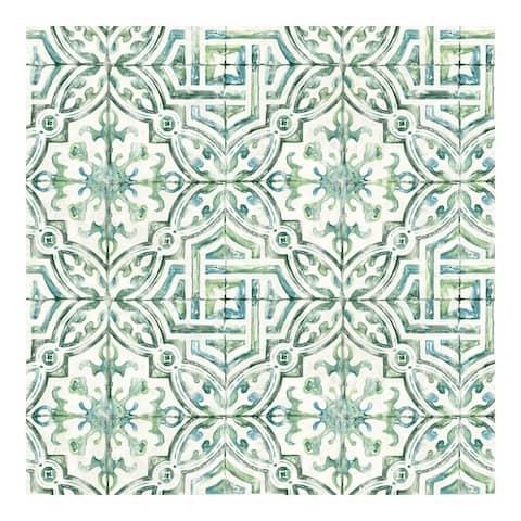 Sonoma Green Beach Tile Wallpaper - 20.5 x 396 x 0.025