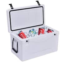 Costway Outdoor Insulated Fishing Hunting Cooler Ice Chest 40 Quart Heavy Duty