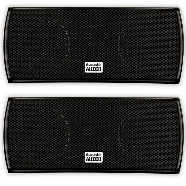 Acoustic Audio AA32CB Mountable Indoor Speakers 600W Black Bookshelf AA32CB-PR