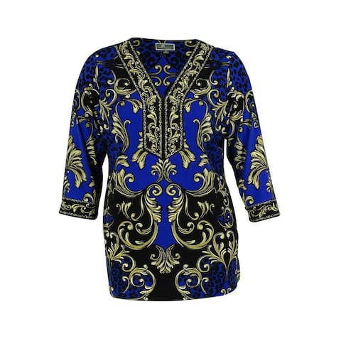 JM Collection Women's Embellished Jersey Tunic Top