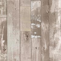 Brewster 347-20132 Heim 56 Sq.Ft. Distressed Wood Imitating Wallpaper - One Roll - N/A