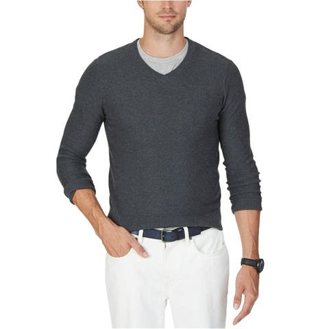 Nautica Mens Textured Pullover Sweater