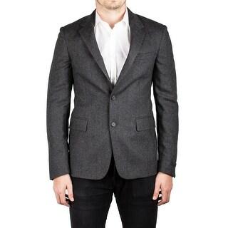 Prada Men's Notched Lapel Virgin Wool Viscose Sport Jacket Coat Blazer Grey