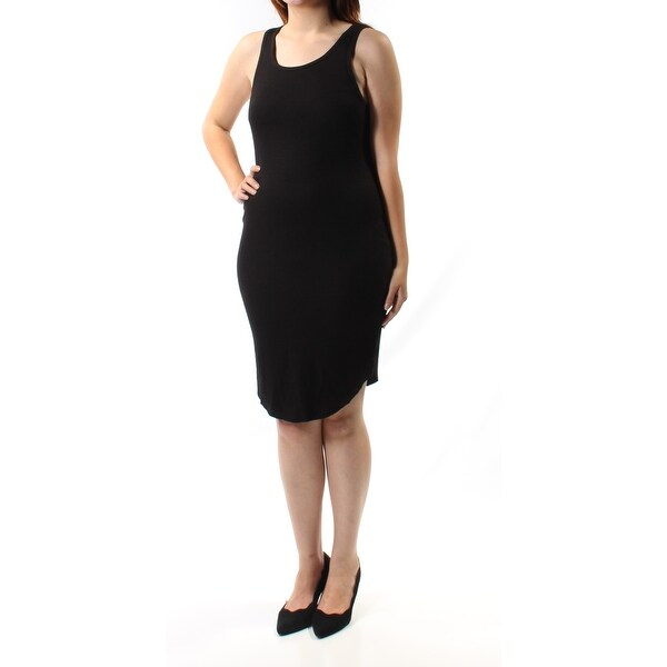 396d2fbce0a Shop RACHEL ROY Womens Black Sleeveless Scoop Neck Above The Knee Body Con  Dress Size  M - On Sale - Free Shipping On Orders Over  45 - Overstock -  21310302