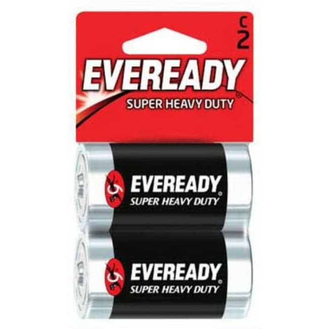 Eveready 1235SW-2 Super Heavy Duty C Battery, 2-Pack