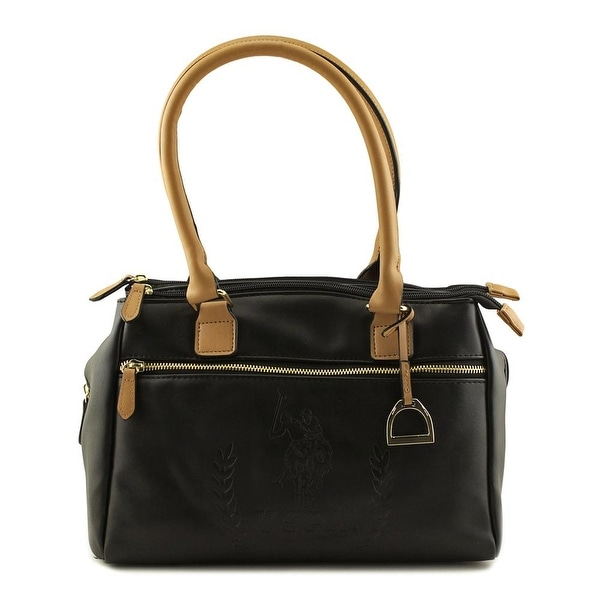 108d17c358aa Shop US Polo Assn Billy Triple Entry Satchel Women Synthetic Black ...