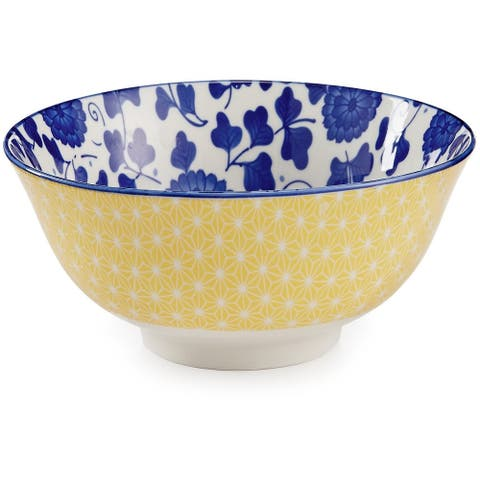 "Certified International Chelsea Mix and Match Indigo Poppy 6.25"" Bowl - Blue - 6.25"" x 2.75"""