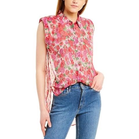 The Kooples Cherry Blossom Silk-Blend Top