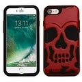 Insten Skullcap Hard PC/ Silicone Dual Layer Hybrid Rubberized Matte Case Cover For Apple iPhone 7 - Thumbnail 7