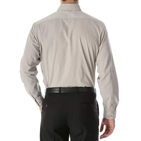 Ferrecci Mens Leo Slim Fit Cotton Long Sleeve Dress Shirt