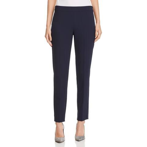 Donna Karan Women's Dress Pants Blue Size 0 Stretch Straight Leg