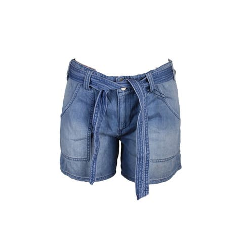Sanctuary Rinsed Blue Karate Cotton Simona Wash Denim Shorts 25