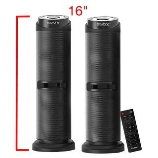 Boytone BT-424F, 2.1 Bluetooth Powerful Home Theater Speaker System, with FM Radio, SD USB ports, 50 Watts, Disco Light, Remote