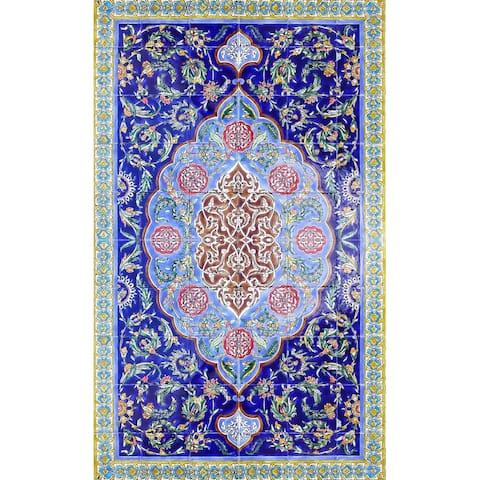 36in x 60in Intricate Area Rug Persian Design 60pc Ceramic Tiles Set