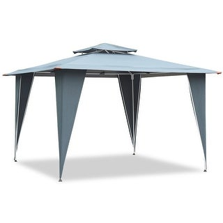 2 Tiers 11 5 X 11 5 Gazebo Canopy Shelter Patio Awning Tent