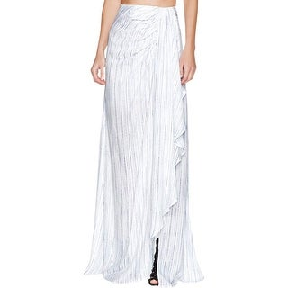 TJD Womens Maxi Skirt Striped Wrap