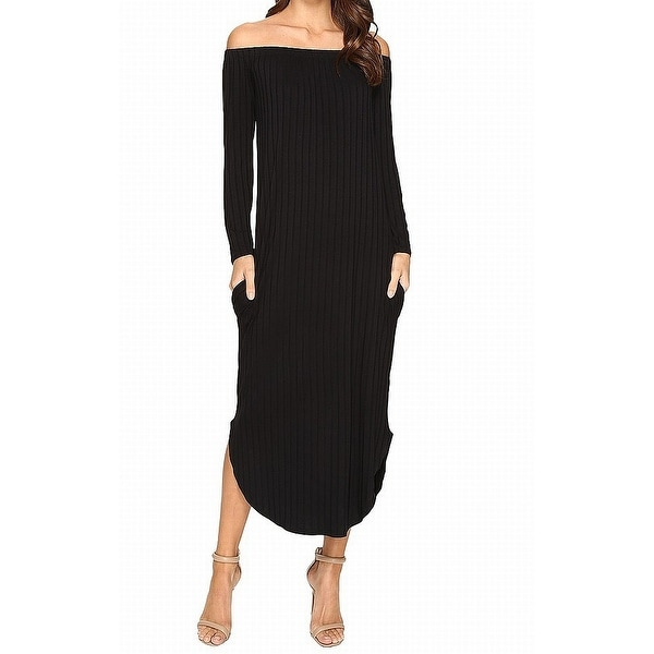39f07a4b5483 Shop Culture Fit Black Womens Size Medium M Off Shoulder Maxi Dress - Free  Shipping On Orders Over  45 - Overstock - 27094869