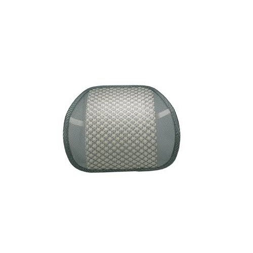 Qvs Lbp-2A Ergonomic Lumbar Back Support Elastic Strap Cream Gray