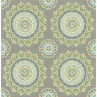 Brewster 1014-001804 Gemma Grey Boho Medallion Wallpaper