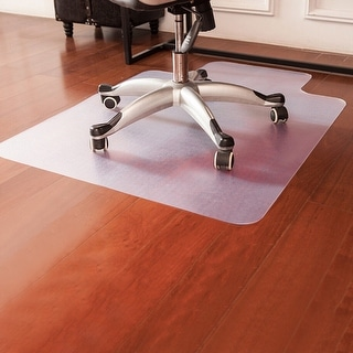 Costway 48'' x 36'' PVC Home Office Chair Floor Mat For Wood/Tile 1.50mm Thick - clear