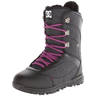 DC Womens Karma 15 Faux Leather Heathered Snowboard Boots - Black/Purple