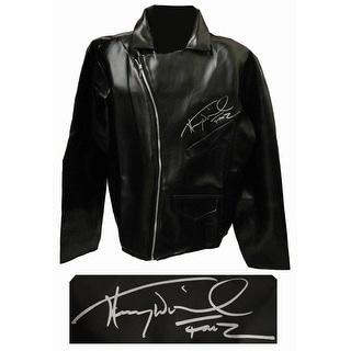 Henry Winkler Black Faux Leather Biker Jacket wFonz