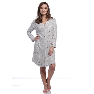Body Touch Women's Super Soft Sheep Long Sleeve PJ Sleepshirt