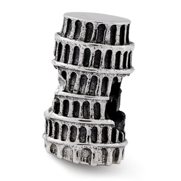 Sterling Silver Reflections Leaning Tower of Pisa Bead (4mm Diameter Hole)