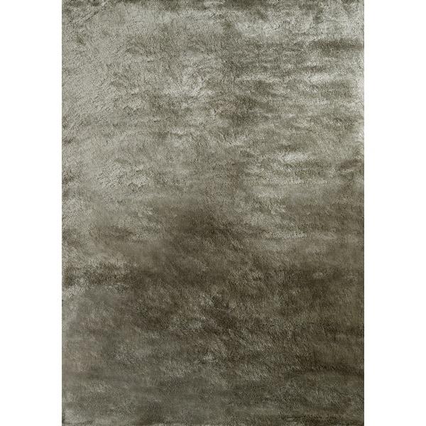 Momeni Rugs LSHAGLS-01CAR2030 Luster Shag Collection Carbon 2 x 3 Hand Tufted High Pile Shag Area Rug