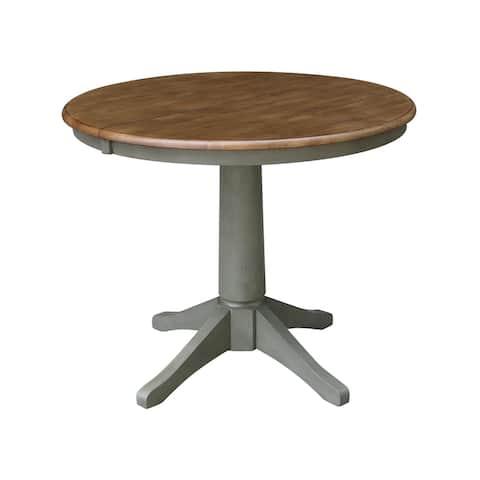 "36"" Round Top Pedestal Table w/12"" Leaf"