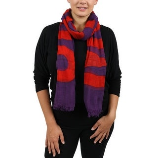 Moschino SCR11235/1 Purple Signature Scarf - 32-80