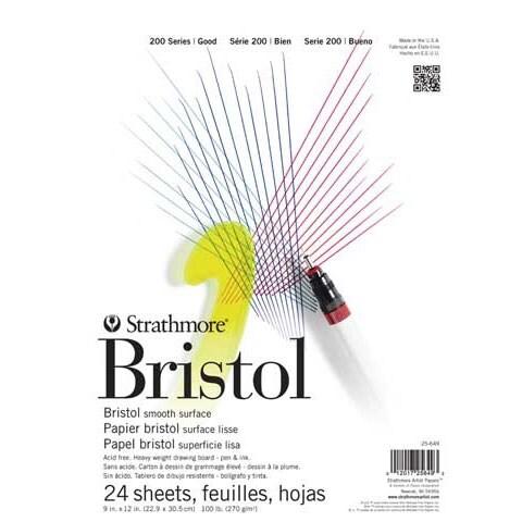 "Strathmore - Bristol Paper Pad - 200 Series - Smooth - 9"" x 12"""