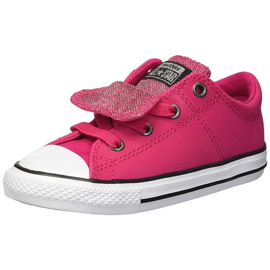 Converse Kids' Chuck Taylor All Star Glitter Leather Maddie Slip on Low Top S 6 M US Toddler