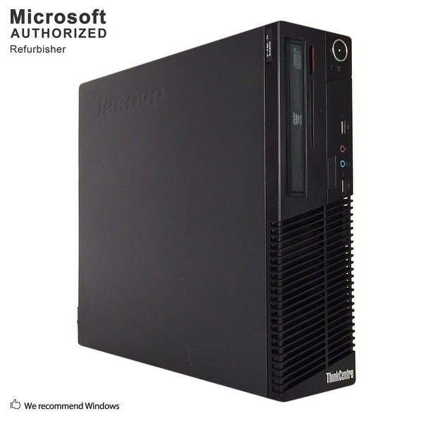 Lenovo M73 SFF, Intel i5-4570 3.2GHz, 16GB DDR3, 2TB HDD, DVD, WIFI, BT 4.0, HDMI, W10P64 (EN/ES)-Refurbished