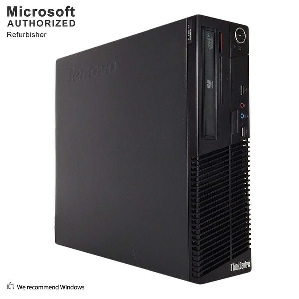 Lenovo M73 SFF, Intel i5-4570 3.2GHz, 16GB DDR3, 3TB HDD, DVD, WIFI, BT 4.0, HDMI, W10P64 (EN/ES)-Refurbished