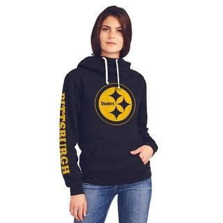 Pittsburgh Steelers Women's Cowl Neck Hooded Sweatshirt