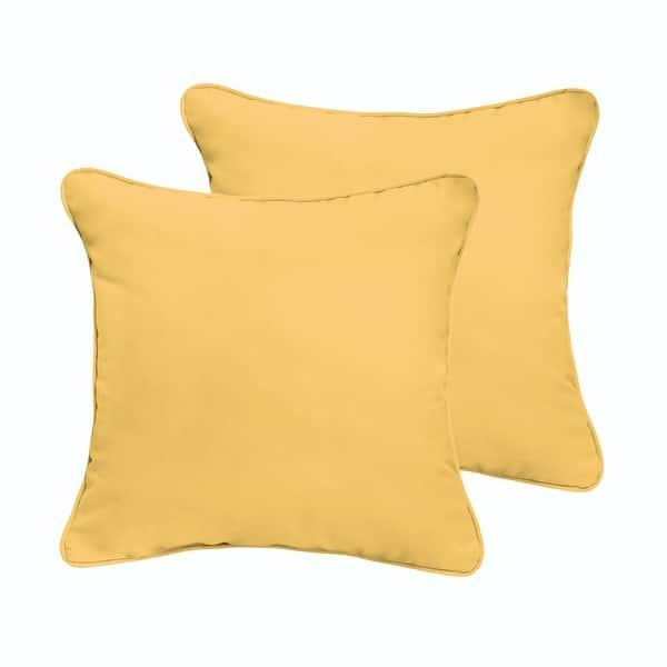 Clara 18 Inch Indoor Outdoor Throw Pillows With Sunbrella Fabric Set Of 2 On Sale Overstock 5043199