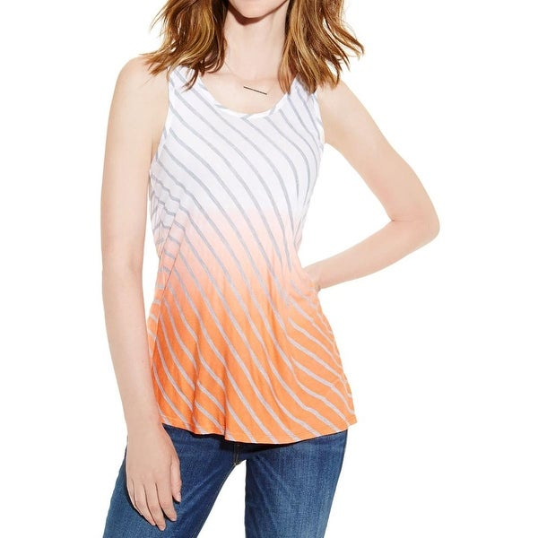 Two by Vince Camuto Womens Tribal Beat Tank Top Striped Ombre