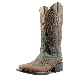 Corral G1213 Women W Square Toe Leather Black Western Boot