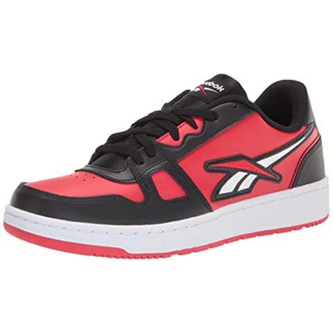 Reebok unisex adult Resonator Low Sneaker, Black/Vector Red/White