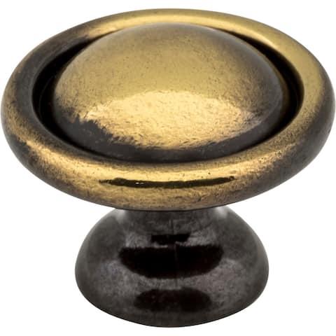 "Elements 878 Windermere 1-3/16"" Diameter Mushroom Cabinet Knob - Antique Brass"