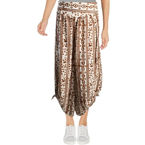 Free People Womens Elena Wide Leg Pants High-Rise Side Slit - M