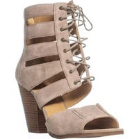 Nine West Highland Lace-Up Sandals, Taupe Suede - 9 us
