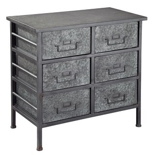 Hekman 27753 28 Inch Wide Metal Filing Cabinet with Six Drawers