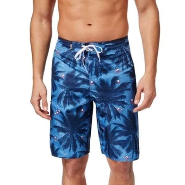 aad251cc34 Shop LRG Men's Palm Tree Board Pale Blue Shorts Size 32