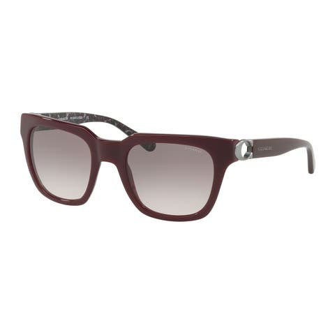Coach Square HC8240 Women OXBLOOD Frame GREY PINK GRADIENT Lens Sunglasses
