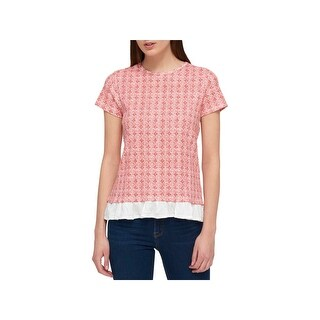 Tommy Hilfiger Womens Pullover Top Printed Ruffled (More options available)