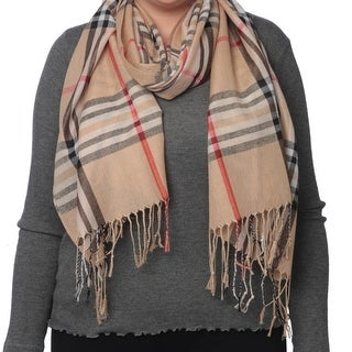 Link to Women's Cozy Long Soft Light Weight Plaid Wrap Blanket Shawl Similar Items in Scarves & Wraps