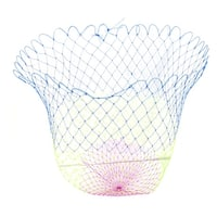 Unique Bargains 1 x 1 Plastic Portable Fishing Landing Net Fish Angler Mesh for Fishermen Yellow Fuchsia Blue